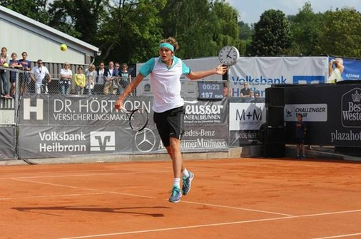 Alexander Zverev, Shooting-Star der deutschen Tennisszene, gewann 2015 in Heilbronn seinen zweiten Challengertitel im Einzel.