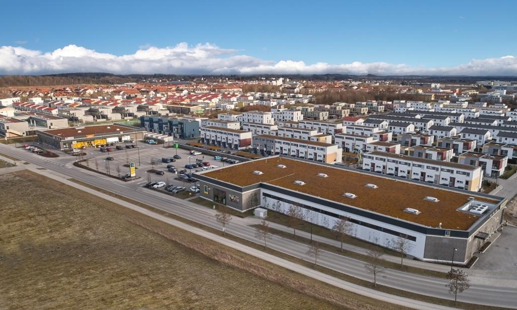 Seewinkel Center Poing Luftaufnahme