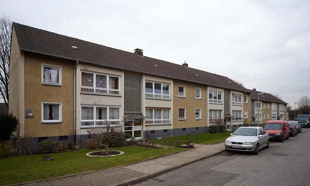 Gebäude in Essen Gerschede vor der Sanierung