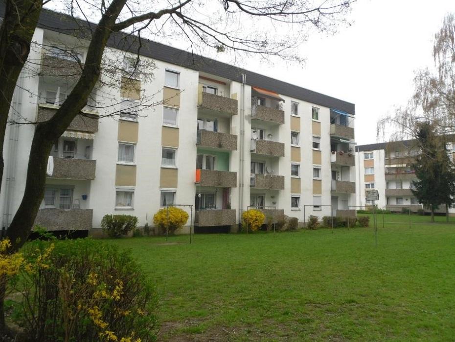 Gebäude in Leverkusen vor der Sanierung