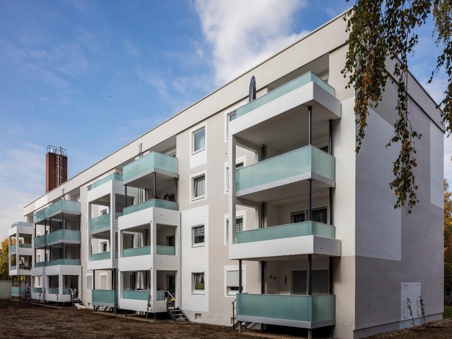Gebäude in Leverkusen nach der Sanierung