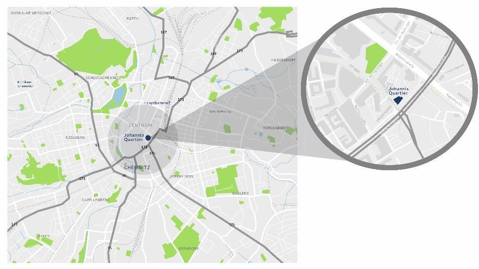 Johannis Quartier, Karte Mikrolage