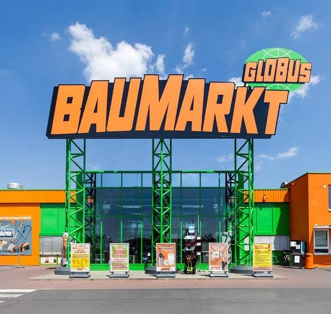 Eingang Globus Baumarkt Kitzingen