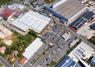 Globus Kitzingen Luftbild