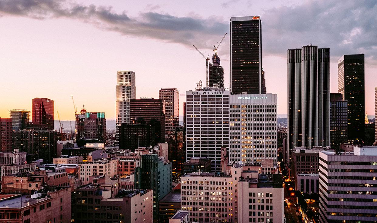 Skyline einer Großstadt