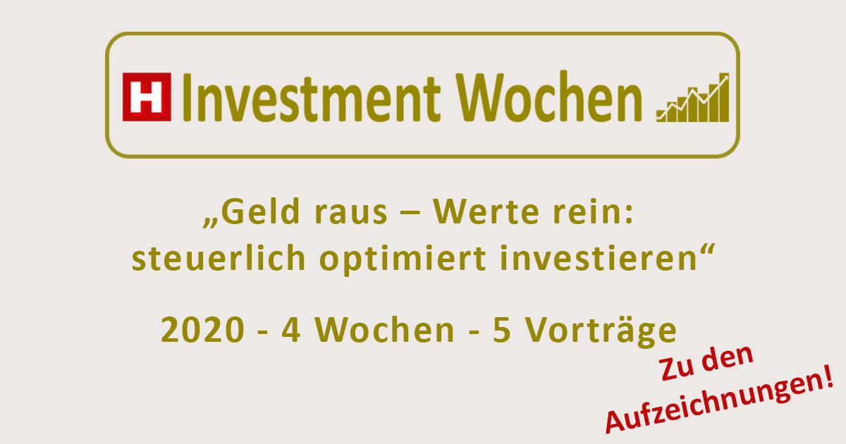 Investmentwochen 2020 Aufzeichnungen
