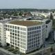 Blick auf das Rathaus und das Investitionsobjekt in der Stadtmitte Mülheims